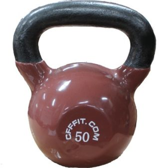 CFF-Vinyl-Russian-Kettlebell-and-Chalk-Block-Brown-50-Pound-0