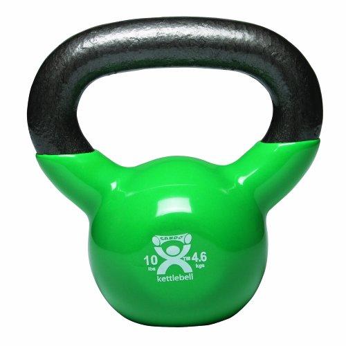 Cando-10-3193-Green-Kettle-Bell-10-lbs-Weight-0