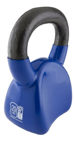 GoFit-Contoured-Single-Vinyl-Coated-Kettlebell-Single-With-Training-Dvd-Blue-20Lb-0
