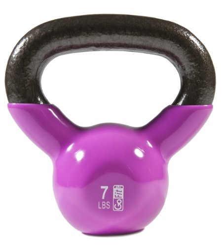 GoFit-Premium-Vinyl-Dipped-Kettle-Bell-With-Introductory-Training-Dvd-Magenta-7Lb-0