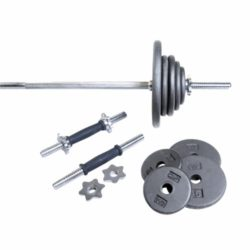 CAP-Barbell-Regular-Grey-110-Pound-Weight-Set-0