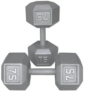 Cast-Iron-Hex-Dumbbell-Set-55-75-Lbs-0-0