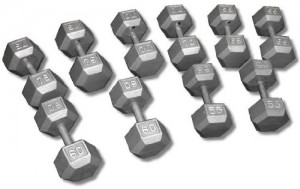 Cast-Iron-Hex-Dumbbell-Set-55-75-Lbs-0