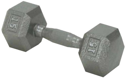 Champion-Barbell-15-Pound-Solid-Hex-Dumbell-with-Ergo-Grip-0
