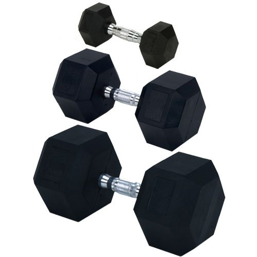 Champion-Rubber-Encased-Solid-Hex-Dumbbell-0