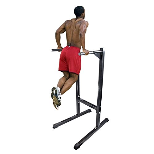 Dip-Stand-Self-Standing-Angled-Dipping-Station-Machine-Bicep-Tricep-Shoulder-New-0
