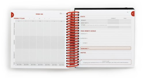 fitlosophy fitbook  fitness planner and food journal