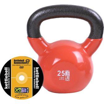 GoFit-25-Pound-Orange-Kettlebell-with-Vinyl-Coating-Training-DVD-and-Exercise-Booklet-0