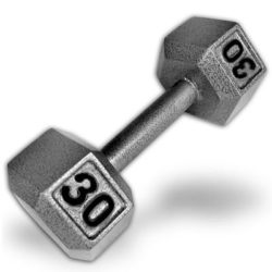 Grey-30-Lbs-Hex-Dumbbells-0