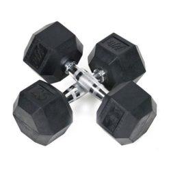 JFit-Rubber-Coated-Hex-Dumbbells-25-lb-Pair-0