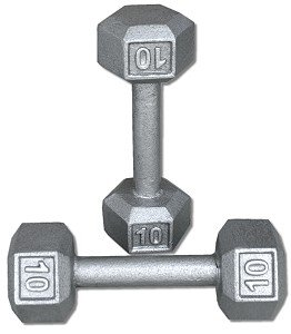 Pair-10-Lb-Cast-Iron-Hex-Dumbbells-0