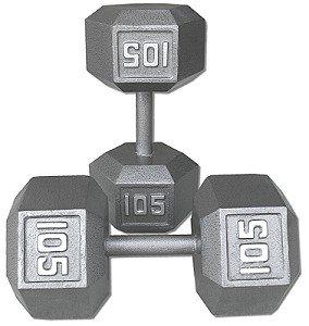 Pair-105-Lb-Cast-Iron-Hex-Dumbbells-0