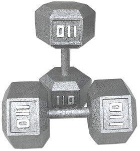 Pair-110-lb-Cast-Iron-Hex-Dumbbells-0