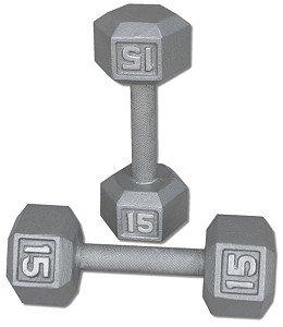 Pair-15-Lb-Cast-Iron-Hex-Dumbbells-0