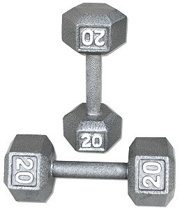 Pair-20-Lb-Cast-Iron-Hex-Dumbbells-0