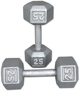 Pair-25-Lb-Cast-Iron-Hex-Dumbbells-0