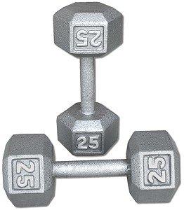 Pair-25-Lb-Cast-Iron-Hex-Dumbbells-0