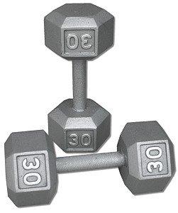 Pair-30-Lb-Cast-Iron-Hex-Dumbbells-0