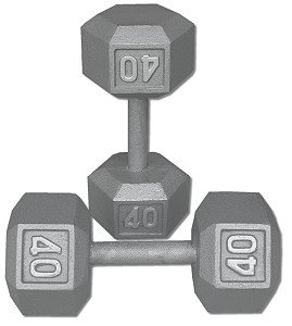 Pair-40-Lb-Cast-Iron-Hex-Dumbbells-0