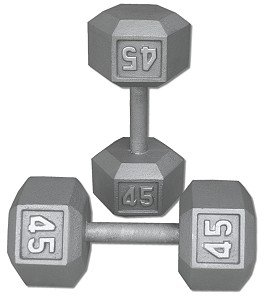 Pair-45-Lb-Cast-Iron-Hex-Dumbbells-0
