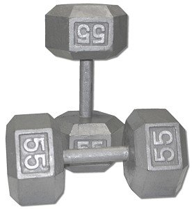 Pair-55-Lb-Cast-Iron-Hex-Dumbbells-0