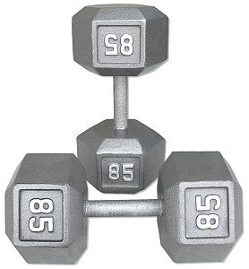 Pair-85-Lb-Cast-Iron-Hex-Dumbbells-0