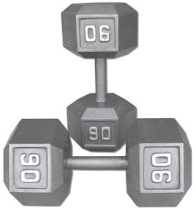 Pair-90-Lb-Cast-Iron-Hex-Dumbbells-0