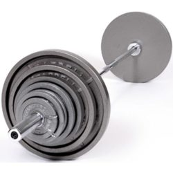USA-Sports-by-Troy-Barbell-300-lb-Olympic-Grey-Weight-Set-with-Chrome-Bar-0