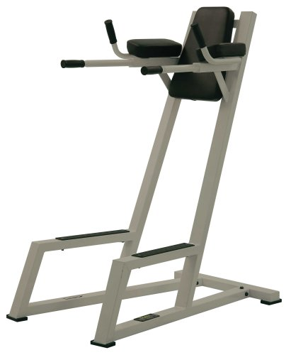 York-Barbell-Vertical-Knee-Raise-with-Dip-Station-Silver-0