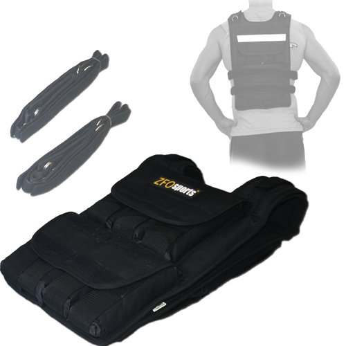 ZFOsports-60LBS-ADJUSTABLE-WEIGHTED-VEST-0