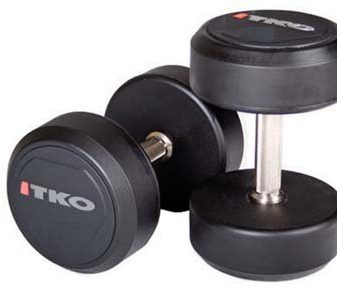 Solid-Steel-Urethane-Coated-Dumbbells-with-Tri-Grip-Handle-Pairs-Sets-115-lbs-0